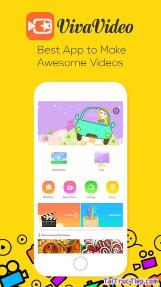 Hình 2 - Tải ứng dụng quay video, chụp ảnh Viva Video cho iPhone, iPad