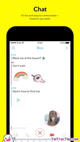 Hình 3 - Tải Snapchat - Ứng dụng chat video & hình ảnh cho iPhone, iPad