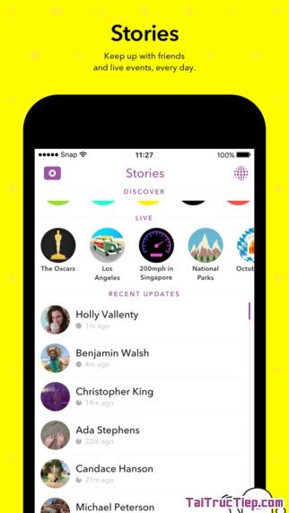 Hình 4 - Tải Snapchat - Ứng dụng chat video & hình ảnh cho iPhone, iPad