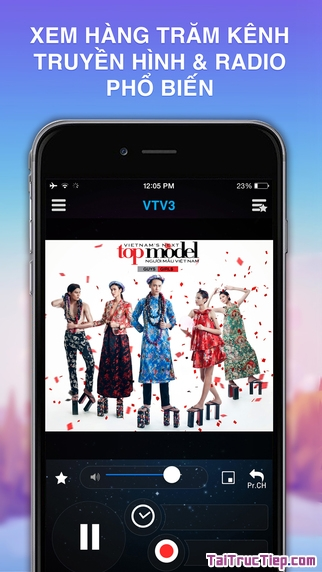 Hình 2 - Tải VietTV - Phần mềm nghe radio, xem tivi cho iPhone, iPad