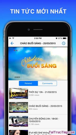 Hình 3 - Tải VietTV - Phần mềm nghe radio, xem tivi cho iPhone, iPad