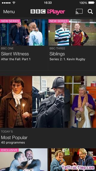 Hình 2 - Tải BBC iPlayer - Ứng dụng nghe radio, xem tivi cho iPhone, iPad