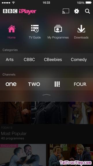 Hình 3 - Tải BBC iPlayer - Ứng dụng nghe radio, xem tivi cho iPhone, iPad
