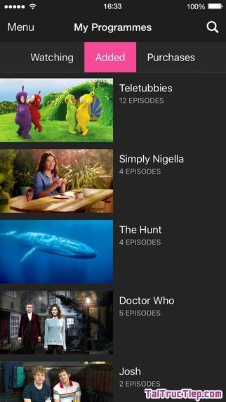 Hình 4 - Tải BBC iPlayer - Ứng dụng nghe radio, xem tivi cho iPhone, iPad