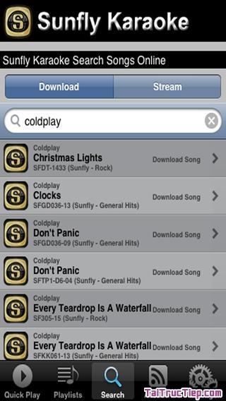 Hình 2 - Tải Sunfly Karaoke - Ứng dụng hát Karaoke cho iPhone, iPad