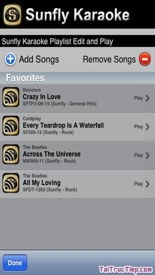 Hình 3 - Tải Sunfly Karaoke - Ứng dụng hát Karaoke cho iPhone, iPad