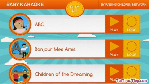 Hình 4 - Tải Baby Karaoke - Ứng dụng hát karaoke cho điện thoại iPhone, iPad