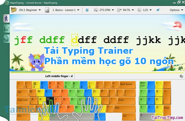 Tải Typing Trainer - Phần mềm học gõ 10 ngón + Hình 4