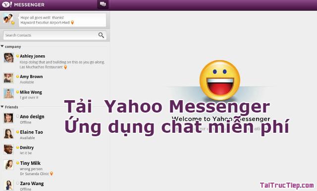 Tải Yahoo Messenger – Ứng dụng chat miễn phí cho Windows