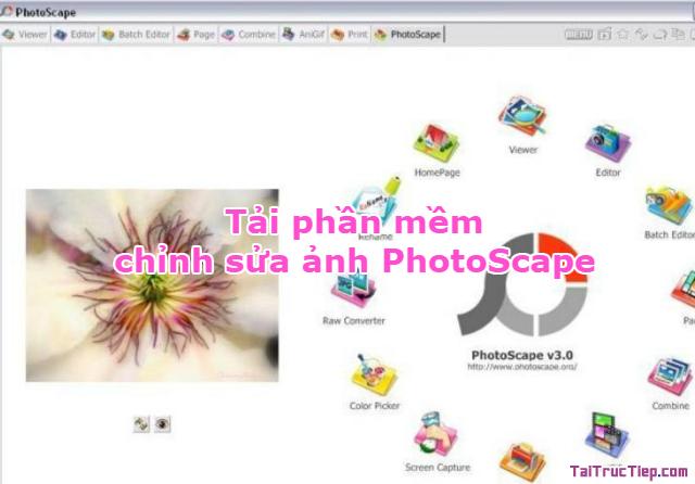 Tải phần mềm chỉnh sủa ảnh kỹ thuật PhotoScape cho Windows