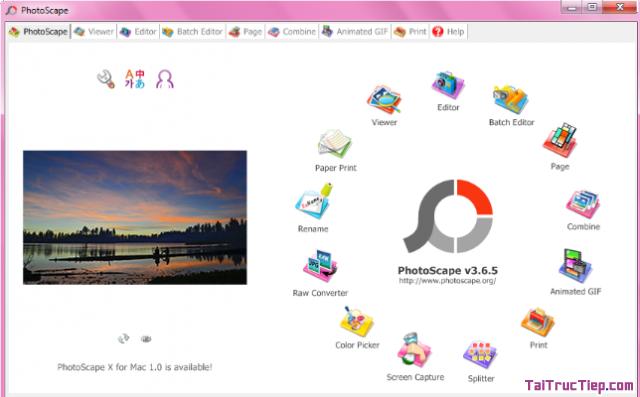 Tải phần mềm chỉnh sủa ảnh kỹ thuật PhotoScape cho Windows + Hình 2