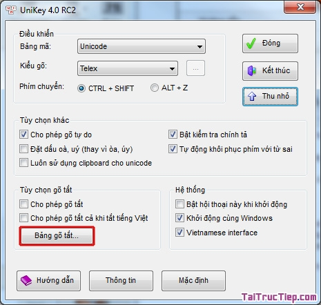 Tải Unikey - Phần mềm gõ Tiếng Việt cho Windows + Hình 2