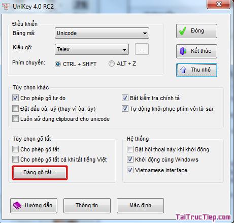 Tải Unikey - Phần mềm gõ Tiếng Việt cho Windows + Hình 4
