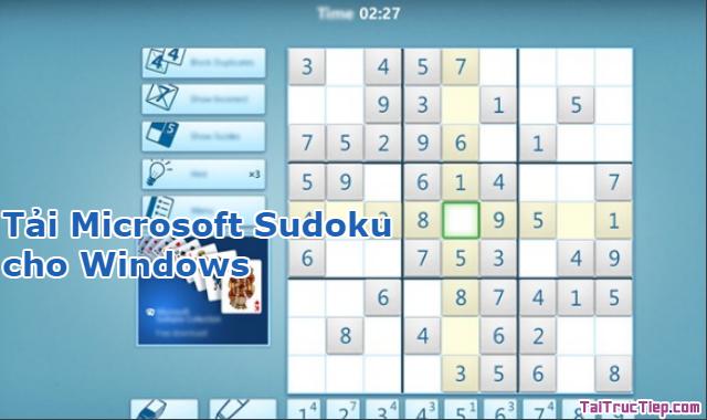 Tải game giải đố Microsoft Sudoku cho Windows