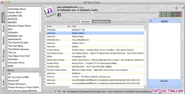 Tải phần mềm nghe nhạc, xem phim, video - MPLAY cho Mac + Hình 3