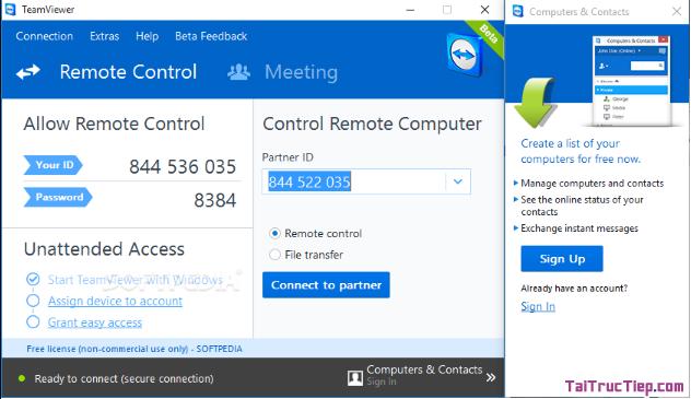 Tải TeamViewer - Trình theo dõi máy tính từ xa cho Windows + Hình 2