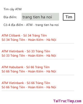 Tải phần mềm Tìm cây ATM cho Windows Phone + Hình 8