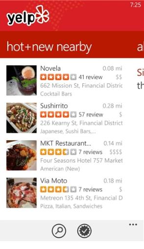Tải Yelp - Ứng dụng tìm kiếm địa chỉ cho Windows Phone + Hình 2
