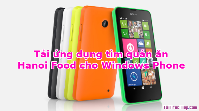 Tải ứng dụng tìm quán ăn – Hanoi Food cho Windows Phone