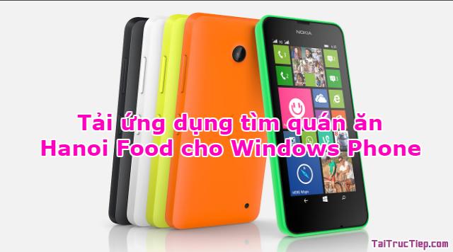 Tải ứng dụng tìm quán ăn - Hanoi Food cho Windows Phone + Hình 1