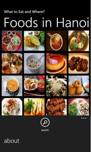 Tải ứng dụng tìm quán ăn - Hanoi Food cho Windows Phone + Hình 2