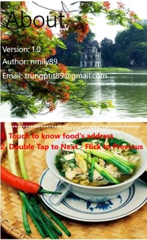 Tải ứng dụng tìm quán ăn - Hanoi Food cho Windows Phone + Hình 6