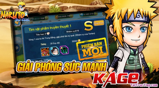 Giới thiệu webgame Naruto Đại Chiến - chơi game không cần cài + Hình 3