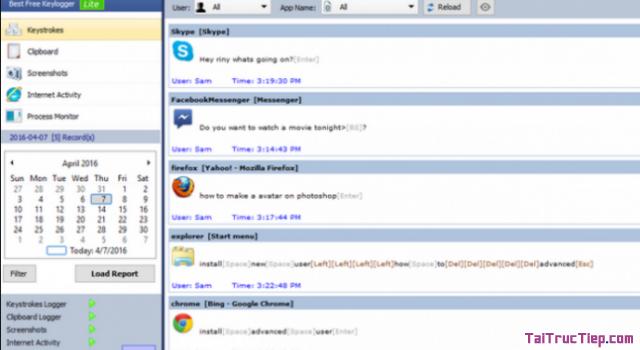 Tải Best Free Keylogger - Phần mềm giám sát hoạt động máy tính + Hình 2