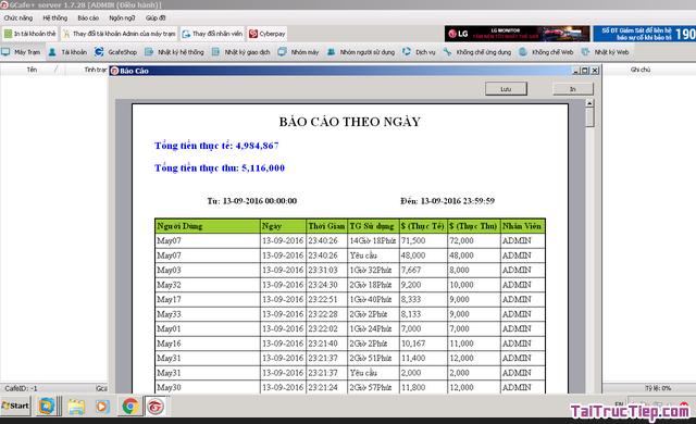 Tải cài đặt GCafe Plus - Trình quản lý quán chát cho Windows + Hình 3