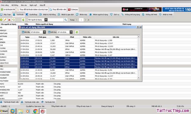 Tải cài đặt GCafe Plus - Trình quản lý quán chát cho Windows + Hình 4