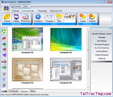 Tải NET CONTROL - Trình điều khiển phòng máy tính cho Windows + Hình 4