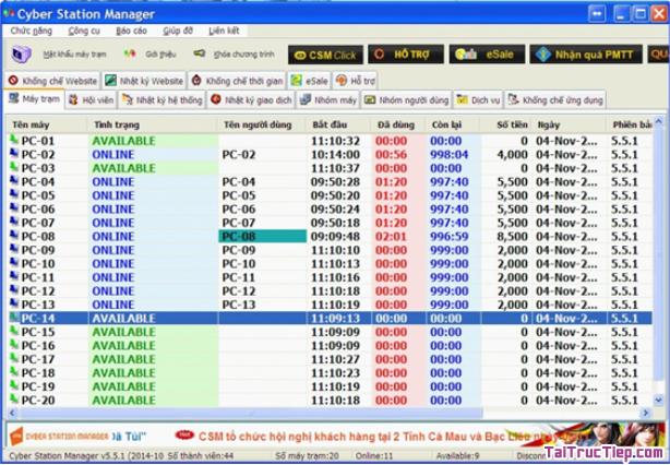 Tải Cyber Station Manager - Phần mềm quản lý phòng máy chơi game + Hình 3