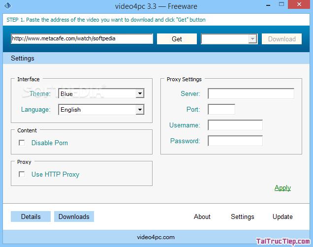 Tải và cài đặt Video4pc - Phần mềm hỗ trợ download video từ YouTube + Hình 3