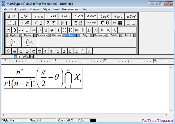 Tải MathType - Ứng dụng chèn công thức Toán học cho Windows + Hình 2