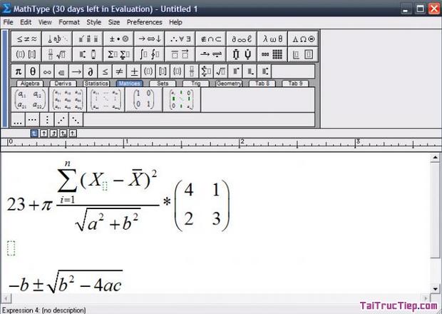 Tải MathType - Ứng dụng chèn công thức Toán học cho Windows + Hình 4